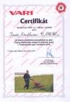 VARI Certifikát